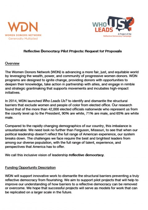 Click to download the full RFP for Who Leads Us pilot projects.